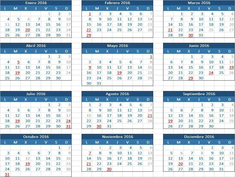 Calendario Fiscal.Calendario Fiscal 2016 Para Pymes Y Autonomos Blog Billin