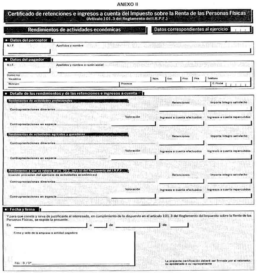 Anexo 2 del certificado de retenciones e ingresos