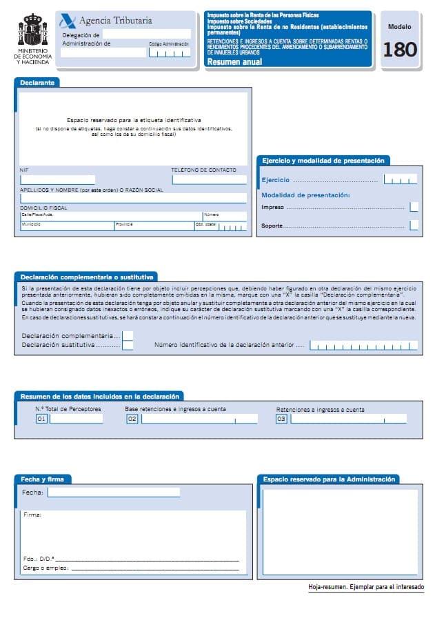 Modelos informativos y Declaración resumen anual