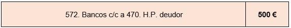 ejemplo asiento contable 572 a 470