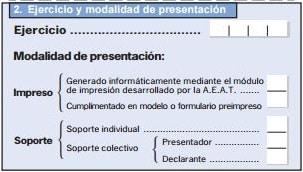 ejercicio de modalidad de presentacion modelo 184