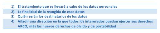 texto protección de datos