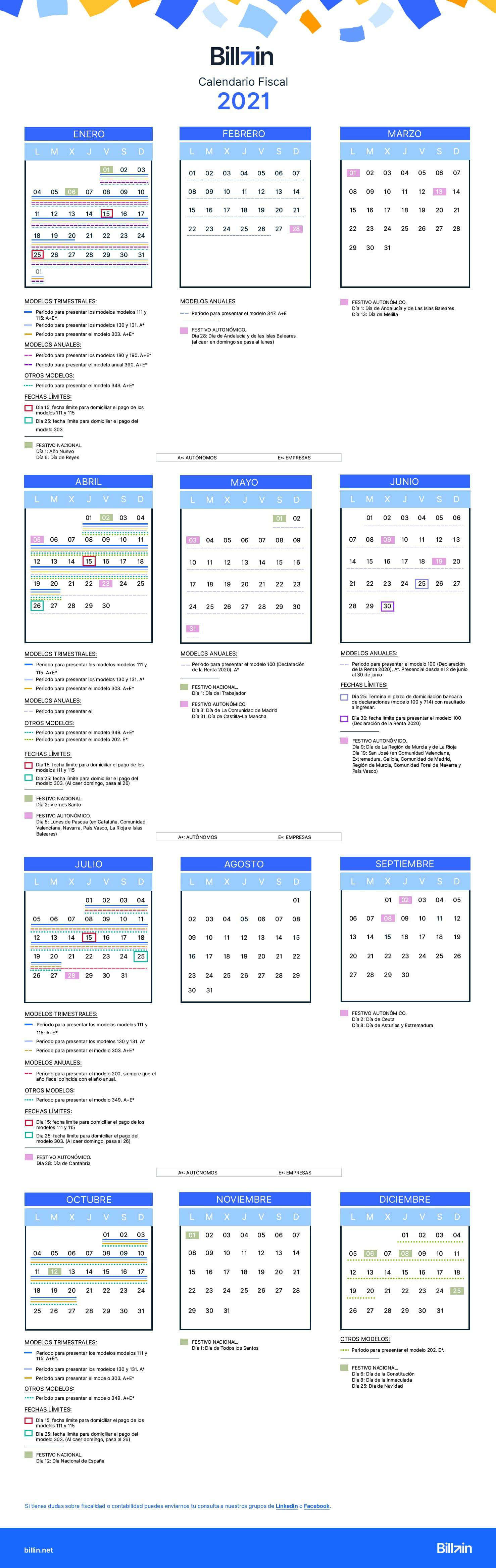 imagen calendario fiscal 2021