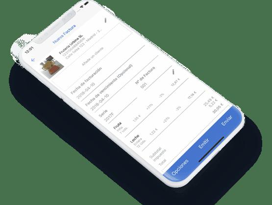 Ejemplo de factura online Billin versión Smarthphone