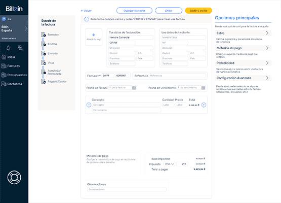 Envíar facturas automaticamente y programadas