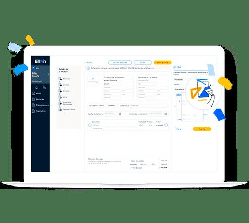 Ejemplo de factura online Billin versión Desktop