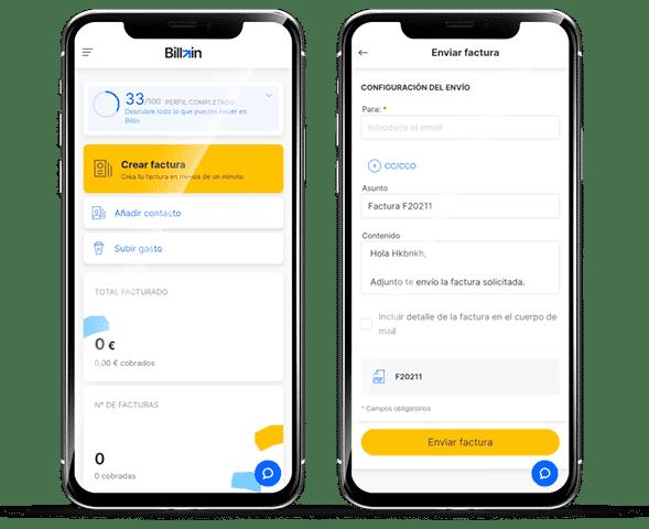 Aplicación para móvil Billin